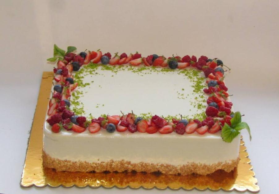 Торт фруктовый с днем рождения 17